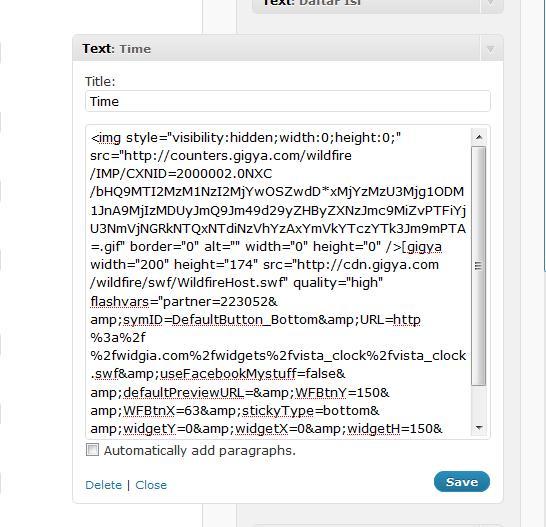 Cara Memasang Daftar Isi Posting Pada Sidebar Wordpress: Sw3eT M3M0R13S